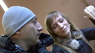 Naive Russian model gets seduced on the street and roughly ass fucked