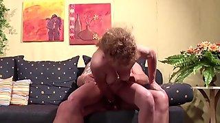 Extrem Skinny German MILF Seduce to Fuck by Neighbour