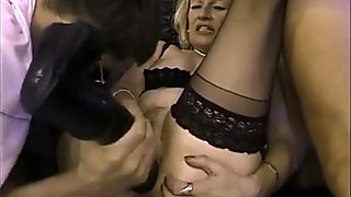 hot granny fucked by big black toy and take two facials