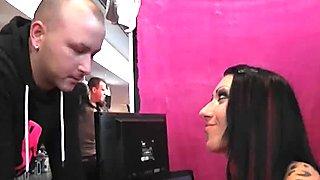 German Hostess fucks outdoor with normal boy