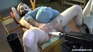 Tape gagged machine fucked from Submissed.com