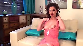 Chrystal Anne is a Hot Brunette MILF Who Loves to Masturbate