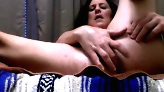 Hot Dildo session with fingering and squirting