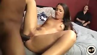 Young wife fucked by black in front of cuckold